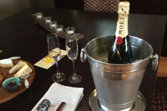 french champagne at lilies retreats