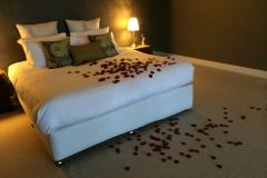rose petals in lilies romantic bedrooms